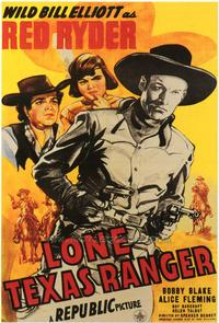 Lone Texas Ranger - 43 x 62 Movie Poster - Bus Shelter Style A