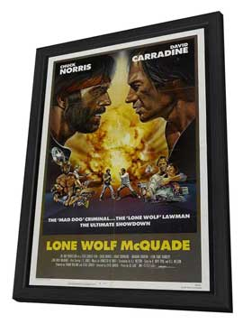 Lone Wolf McQuade - 27 x 40 Movie Poster - Style C - in Deluxe Wood Frame