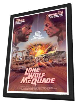 Lone Wolf McQuade - 11 x 17 Movie Poster - Style A - in Deluxe Wood Frame