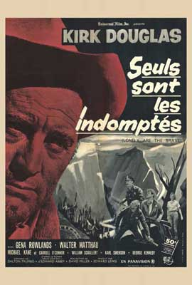 Lonely Are the Brave - 27 x 40 Movie Poster - French Style A