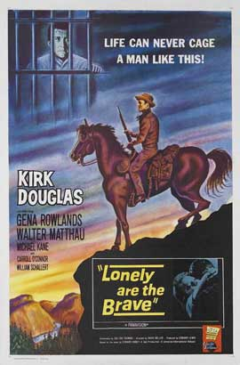 Lonely Are the Brave - 11 x 17 Movie Poster - Style B