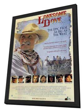 Lonesome Dove - 11 x 17 Movie Poster - Style A - in Deluxe Wood Frame