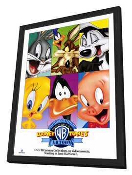 Looney Toons Collection - 11 x 17 Movie Poster - Style A - in Deluxe Wood Frame