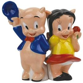 Looney Tunes Cartoons - Porky Pig and Petunia Salt and Pepper Shakers