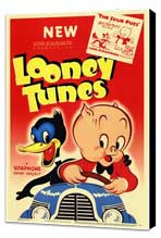 Looney Tunes - 11 x 17 Movie Poster - Style A - Museum Wrapped Canvas