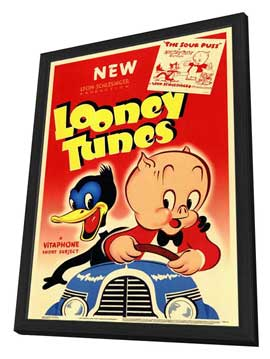 Looney Tunes - 11 x 17 Movie Poster - Style A - in Deluxe Wood Frame