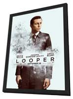 Looper - 11 x 17 Movie Poster - Style D - in Deluxe Wood Frame