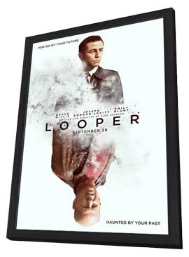Looper - 27 x 40 Movie Poster - Style A - in Deluxe Wood Frame