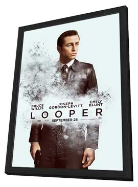 Looper - 27 x 40 Movie Poster - Style C - in Deluxe Wood Frame