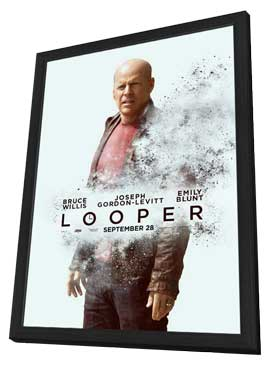Looper - 11 x 17 Movie Poster - Style E - in Deluxe Wood Frame