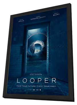 Looper - 27 x 40 Movie Poster - Style E - in Deluxe Wood Frame