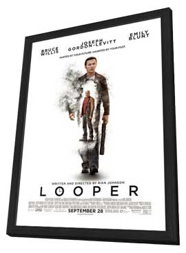 Looper - 11 x 17 Movie Poster - Style C - in Deluxe Wood Frame
