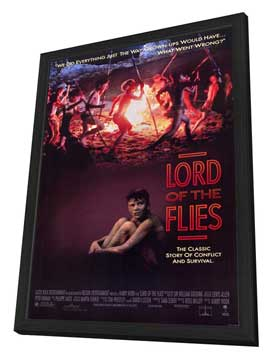 Lord of the Flies - 27 x 40 Movie Poster - Style A - in Deluxe Wood Frame