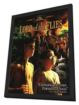 Lord of the Flies - 27 x 40 Movie Poster - Style B - in Deluxe Wood Frame