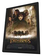 Lord of the Rings 1: The Fellowship of the Ring - 27 x 40 Movie Poster - Style A - in Deluxe Wood Frame