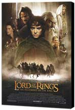 Lord of the Rings 1: The Fellowship of the Ring - 27 x 40 Movie Poster - Style A - Museum Wrapped Canvas