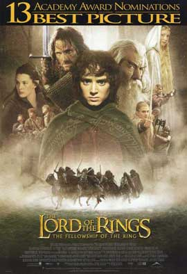 Lord of the Rings 1: The Fellowship of the Ring - 11 x 17 Movie Poster - Style F