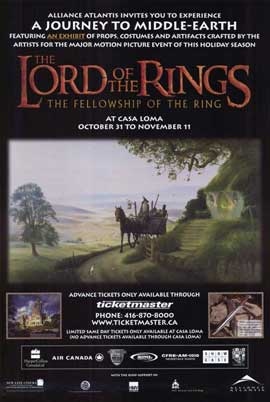 Lord of the Rings 1: The Fellowship of the Ring - 11 x 17 Movie Poster - Style H