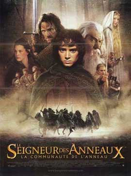 Lord of the Rings 1: The Fellowship of the Ring - 11 x 17 Movie Poster - French Style A