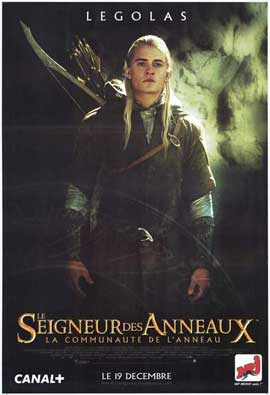 Lord of the Rings 1: The Fellowship of the Ring - 11 x 17 Movie Poster - French Style E