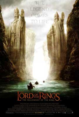 Lord of the Rings 1: The Fellowship of the Ring - 27 x 40 Movie Poster - Style D