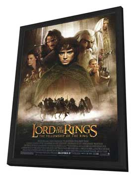 Lord of the Rings 1: The Fellowship of the Ring - 11 x 17 Movie Poster - Style B - in Deluxe Wood Frame