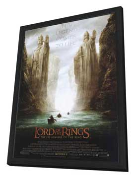 Lord of the Rings 1: The Fellowship of the Ring - 27 x 40 Movie Poster - Style D - in Deluxe Wood Frame