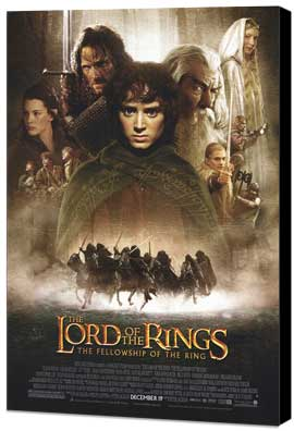 Lord of the Rings 1: The Fellowship of the Ring - 11 x 17 Movie Poster - Style B - Museum Wrapped Canvas