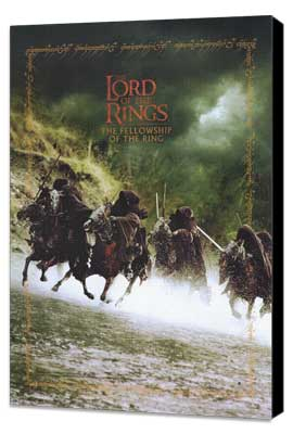 Lord of the Rings 1: The Fellowship of the Ring - 11 x 17 Movie Poster - Style K - Museum Wrapped Canvas