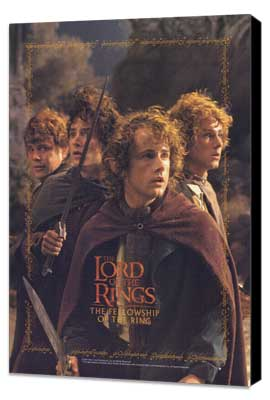 Lord of the Rings 1: The Fellowship of the Ring - 11 x 17 Movie Poster - Style M - Museum Wrapped Canvas