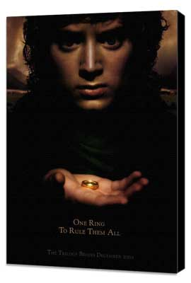 Lord of the Rings 1: The Fellowship of the Ring - 27 x 40 Movie Poster - Style B - Museum Wrapped Canvas