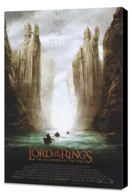 Lord of the Rings 1: The Fellowship of the Ring - 27 x 40 Movie Poster - Style D - Museum Wrapped Canvas