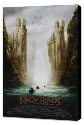 Lord of the Rings 1: The Fellowship of the Ring - 27 x 40 Movie Poster - Style C - Museum Wrapped Canvas