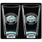 The Lord of the Rings - The Hobbit Golden Perch Premium Etched Pint Glass 2-Pack