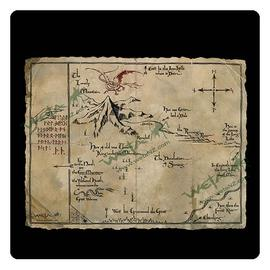 The Lord of the Rings - The Hobbit An Unexpected Journey Thorin's Map Art Print
