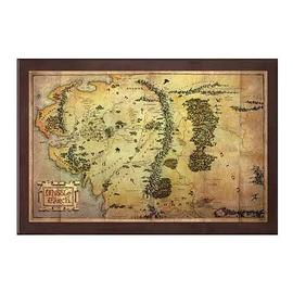 The Lord of the Rings - The Hobbit Map of Middle-earth Art Print