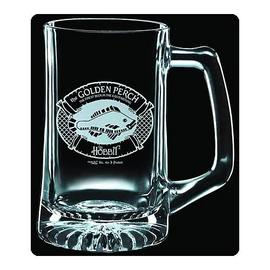 The Lord of the Rings - The Hobbit Golden Perch Premium Etched Glass Stein