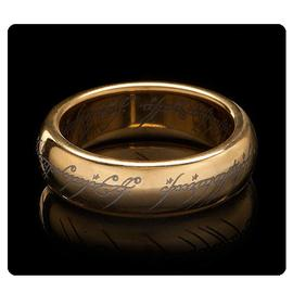 The Lord of the Rings - Lord of the Rings The One Ring Gold Plated Tungsten Ring