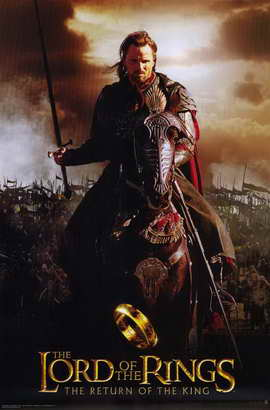 Lord of the Rings: The Return of the King - 11 x 17 Movie Poster - Style N