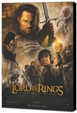 Lord of the Rings: The Return of the King - 27 x 40 Movie Poster - Style A - Museum Wrapped Canvas