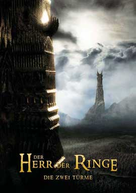 Lord of the Rings: The Two Towers - 27 x 40 Movie Poster - German Style A