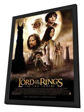 Lord of the Rings: The Two Towers - 27 x 40 Movie Poster - Style A - in Deluxe Wood Frame
