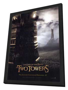 Lord of the Rings: The Two Towers - 27 x 40 Movie Poster - Style D - in Deluxe Wood Frame