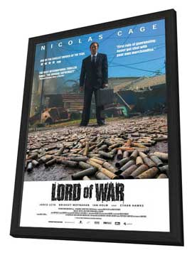 Lord of War - 27 x 40 Movie Poster - Style E - in Deluxe Wood Frame