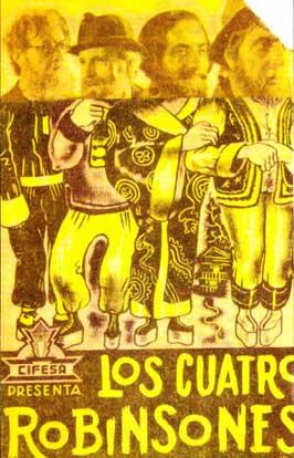 Los cuatro robinsones - 11 x 17 Movie Poster - Spanish Style A