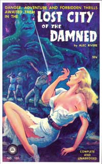 Lost City of the Damned - 11 x 17 Retro Book Cover Poster