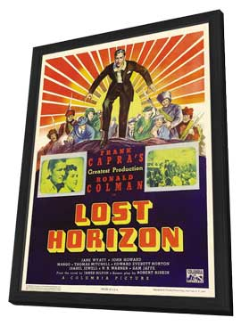 Lost Horizon - 11 x 17 Movie Poster - Style D - in Deluxe Wood Frame