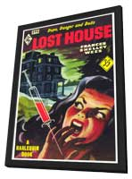 Lost House - 11 x 17 Retro Book Cover Poster - in Deluxe Wood Frame
