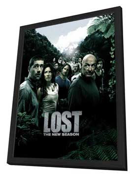 Lost (TV) - 11 x 17 TV Poster - Style U - in Deluxe Wood Frame