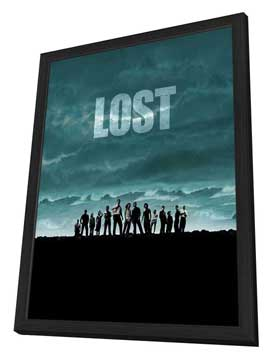 Lost (TV) - 11 x 17 TV Poster - Style W - in Deluxe Wood Frame